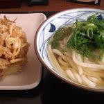 10440418 - かけうどん(並)+野菜かき揚げ