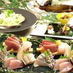 雅 - 雅コース5000円(例)その日の仕入れで厳選した食材を