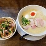 Mitsuba - 豚CHIKIしょうゆラーメン + ミニチャーシュー丼