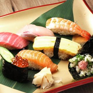 職人が精魂込めて握るこだわりの寿司を食べ放題でいただく贅沢◎