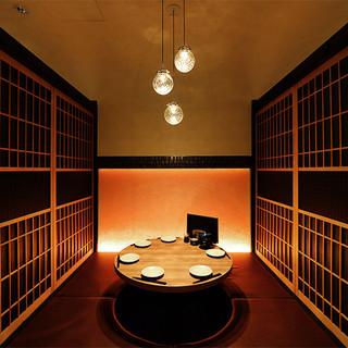 大小個室をご用意◎上質なプライベート和空間で寿司と酒に舌鼓。