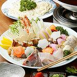 正家 - よせ鍋(海の幸のうどんすき)