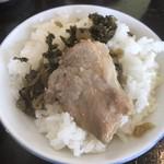 天龍ラーメン - 高菜チャーシューご飯、最高(笑)