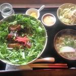 カフェ月星 - ミナのカメカメーランチソーキ丼ver.