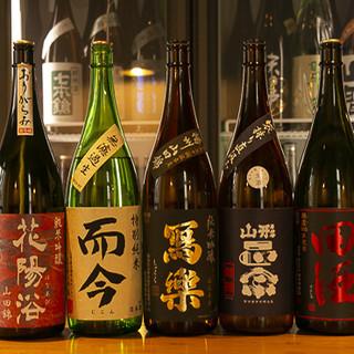 希少銘柄まで取り揃えた全国の日本酒が80種類◎利酒師常駐