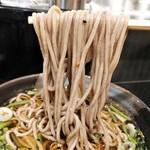 104433956 - 山菜そば 麺リフト