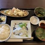 小鮎 - はりいか定食(980円)