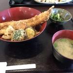 小鮎 - 穴子天丼定食(1,280円)
