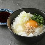 博多とりかわ 長政 - 鶏油たまごかけご飯
