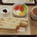カフェ・ド・クリエ ホピタル - 料理写真:ツナサンドモーニング(税込)460円 (2019.3/下旬)
