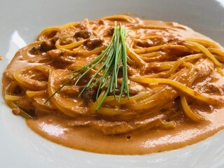 ristorante della collina - 生ウニのトマトクリームソース スパゲッティーニ