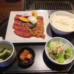 焼肉 笑山門 - 料理写真:ランチ和牛+せせりのセット