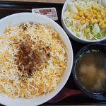 吉野家 - 料理写真:ダブルチーズボロネーゼ丼(Aセット)