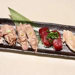 104446409 - 肉寿司の盛り合わせ
