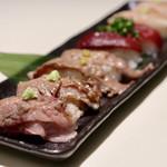 104446413 - 肉寿司の盛り合わせ