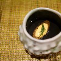 ペペロッソ-蛸墨のスープ 金時人参のジェラート