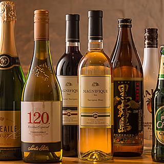紹興酒や焼酎、日本酒など…約130種類をご提供◎