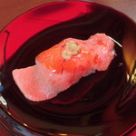104448245 - 神戸牛ステーキ寿司 NEGA Prime Kobe beef 特上 大トロ 1,600円