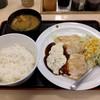 松屋 - 料理写真:鶏タルささみステーキ定食(650円)