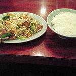 10446085 - 牛肉炒めとライス