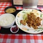 104461671 - 生姜焼き・バラ肉(お皿)