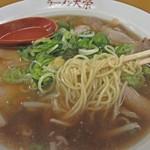 元祖らーめん大栄 - 麺はこんな感じです