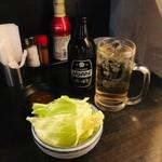 串屋横丁 - お通し/ホッピーセット(白)