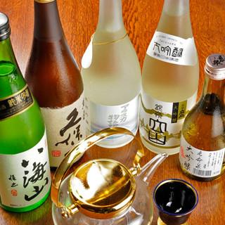 お料理にぴったりな日本酒をラインナップ◎地元成田の銘柄も
