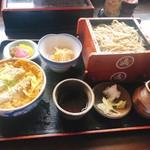 第一立花 - カツ丼セット(そば)