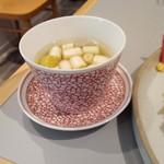 長崎トルコライス食堂 - セットのネギスープ