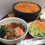 korean煮込みうどん&ミニビビンバセット