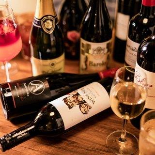 世界のワインをリーズナブルにグラスワインは400円~♪