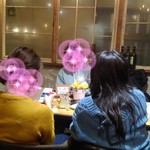 THE BARYAROU 500 - お誕生日のお客さんに特別メニューと写真撮影のサービス。花火が可愛い。