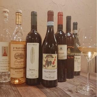 厳選された豊富なワイン