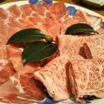 旬菜一楽 - しゃぶしゃぶのお肉(牛&豚)