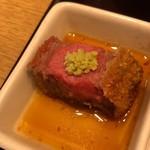京都勝牛 - わさび醤油で