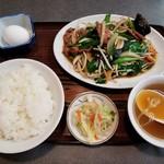 松ちゃんラーメン - レバニラ定食。