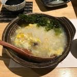 和食と炭火焼 三代目 うな衛門 - '19/03/26 〆の雑炊