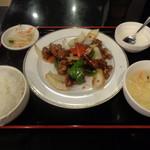 ハルピン - 黒酢酢豚定食でございます
