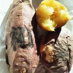 コトブキの壺 - ねっとりおいしい焼き芋(紅ゆうか)!スイートポテトより濃厚かも?! 左は和、右下は笑の焼印が。
