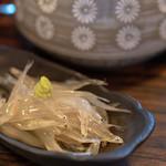 味ごよみ宮田 - 2019.3 お通し(400円)白魚お造り
