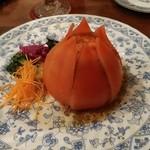 ハンバーグ 葡萄家 - トマトサラダです