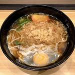 小諸そば - たぬきそば(340円)+玉子(50円)