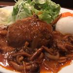 赤坂 江戸桜 - 煮込みハンバーグ