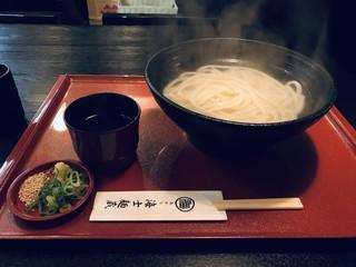 うどん居酒屋 海士麺蔵 - 釜揚げうどん、大盛りをいただきました(2019.3.28)