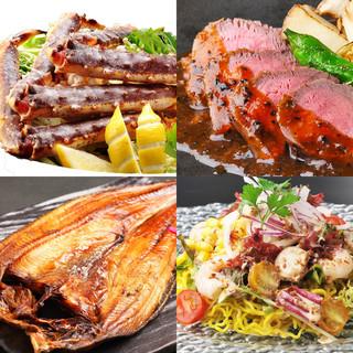 北海道食材や全国各地の季節食材を使用した料理が豊富