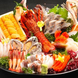 旬の刺身・海鮮料理・季節野菜・肉料理・鍋など各種コースがお得