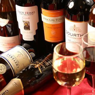 豊富なワインリスト!