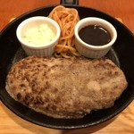 クックドルフィン - 料理写真:ハンバーグ       赤身率88%国産牛の自家製ミンチ