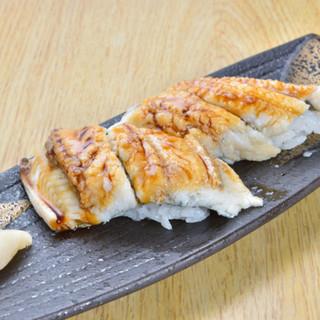 ふわふわの瀬戸内「天然穴子」のにぎり寿司